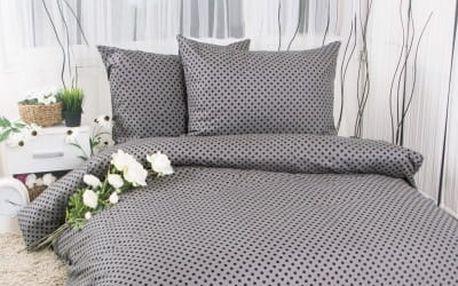 XPOSE ® Francouzské bavlněné povlečení MARKÉTA EXCLUSIVE - šedá 200x220, 70x90