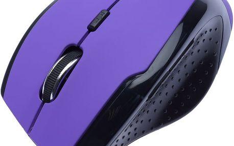 CONNECT IT bezdrátová optická myš V2, fialová - CI-156