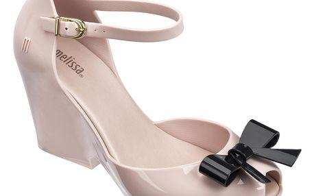 Melissa pudrové boty na klínku Lady Love II Pink/Black - 40
