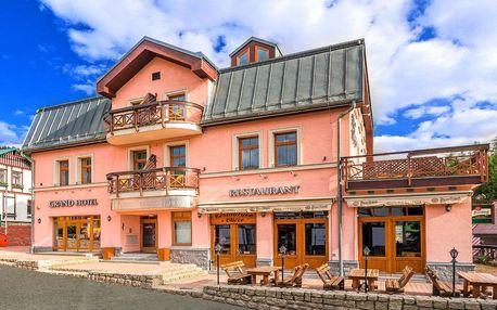 Léto ve Špindlerově Mlýně s polopenzí nebo snídaněmi a vstupem do vodního ráje pro dva v butikovém hotelu Grand***