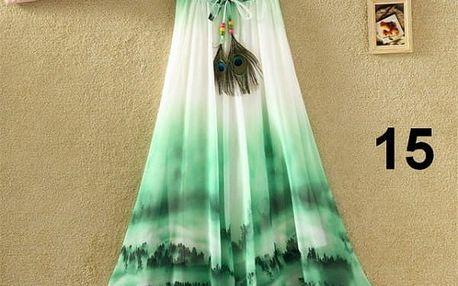 Lehoučká dlouhá sukně na jaro i léto - varianta 15 - dodání do 2 dnů