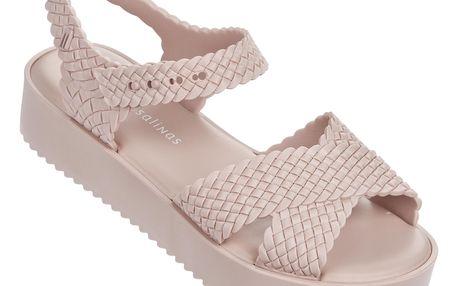 Melissa pudrové sandály Hotness + Salinas Light Pink - 39