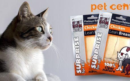 2x libová kuřecí prsíčka Huhubamboo pro kočky