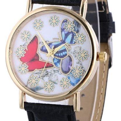 Dámské hodinky s motýly - mnoho barev