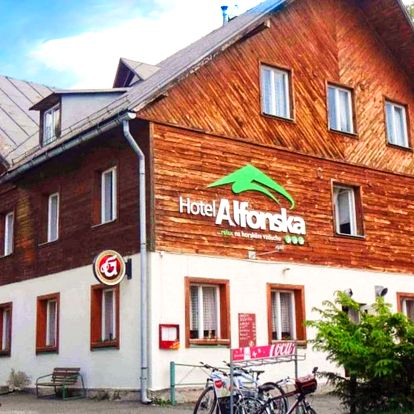Hotel Alfonska*** u rozhledny Žalý s polopenzí
