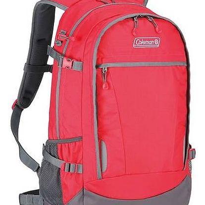 Batoh Coleman Magi-City™ 33l červený + Taška přes rameno Coleman ZOOM - (1L, černá), 12 x 15 x 8,5 cm, 160 g, vhodná na doklady, mobil, klíče v hodnotě 293 Kč + Doprava zdarma