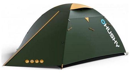 Stan Husky Outdoor Bird 3 Classic zelený + Stan Loap BEACH SHADE M pro 2 osoby - žlutá v hodnotě 539 Kč + Doprava zdarma
