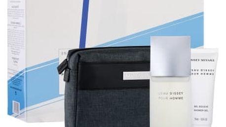 Issey Miyake L´Eau D´Issey Pour Homme dárková kazeta pro muže toaletní voda 125 ml + sprchový gel 75 ml + kosmetická taška