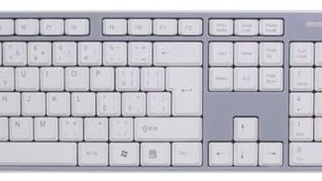 Evolveo WK-180, bezdrátový, bílý/šedý, CZ