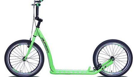 Koloběžka Olpran A5 zelená + Reflexní sada 2 SportTeam (pásek, přívěsek, samolepky) - zelené v hodnotě 58 Kč + Doprava zdarma