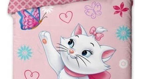 Jerry Fabrics Dětské povlečení MARIE CAT - MOTÝL 140x200 70x90