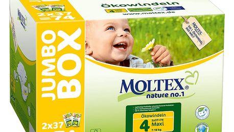 MOLTEX Nature no. 1 Maxi, 74 ks (7 - 18 kg) - JUMBO BOX – jednorázové pleny