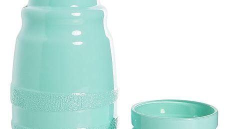 Modrá lahev na vodu s hrnkem Mezzo