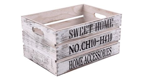 Orion Dřevěná bedýnka Sweet Home, 40 x 30 cm