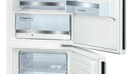 Kombinace chladničky s mrazničkou Bosch KGE36DW40 bílá + dárek