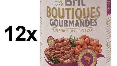 Konzerva Brit Boutiques Gourmandes Salmon Bits&Paté 12 x 400g