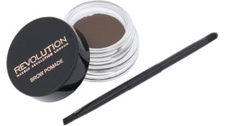 Makeup Revolution London Brow Pomade 2,5 g úprava obočí pro ženy Medium Brown