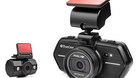 Autokamera TrueCam A6 černá Reflexní vesta TrueCam, žlutá (zdarma) + Doprava zdarma