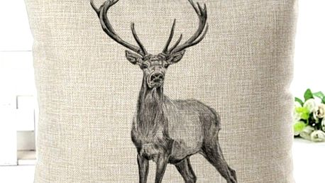 Dekorativní povlak na polštář s jelenem - 9 variant