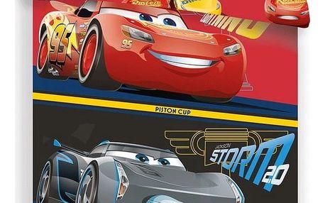 Jerry Fabrics Dětské bavlněné povlečení Cars 3, 140 x 200 cm, 70 x 90 cm