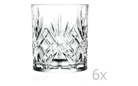 Sada 6 sklenic RCR Cristalleria Italiana Bianca