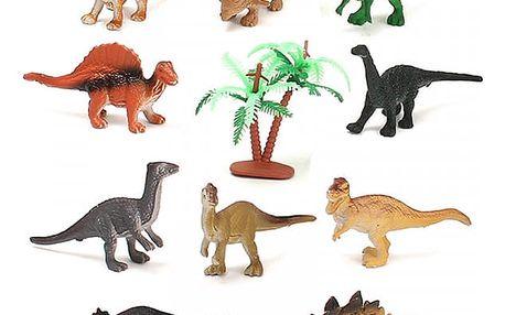 Sada dvanácti dinosaurů + strom
