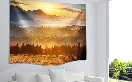 Závěs na zeď s potiskem východu slunce