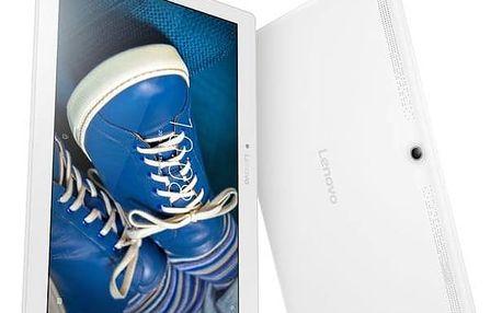 Dotykový tablet Lenovo TAB 2 A10-30 16GB LTE (ZA0D0025CZ) bílý SIM s kreditem T-Mobile 200Kč Twist Online Internet (zdarma)Čistící gel ColorWay CW-5151 (zdarma)Software F-Secure SAFE 6 měsíců pro 3 zařízení (zdarma) + Doprava zdarma