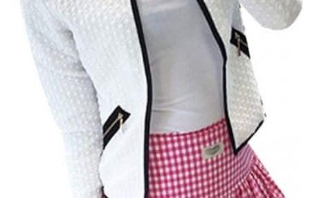Stylové letní sáčko pro dámy - bílá (velikost 4)