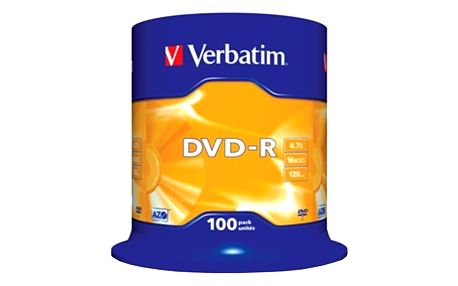 Verbatim DVD-R 16x 4,7GB spindl 100ks - 43549