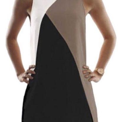 Dámské šaty s geometrickým motivem - více barev