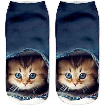 Dámské ponožky s motivy kočiček