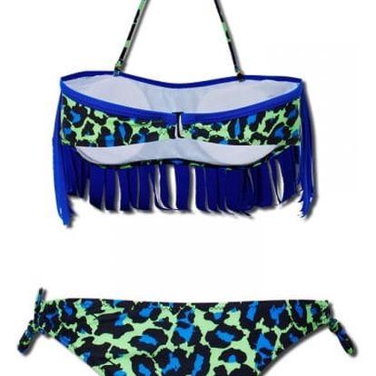 Dámské plavky s třásněmi - zelená, velikost 3 - dodání do 2 dnů