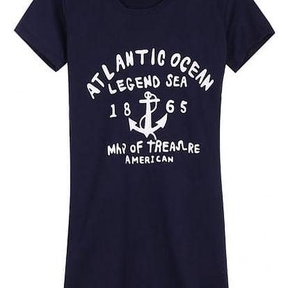 Dámské šaty s kapucí - námořní motivy - modrá, velikost 2 - dodání do 2 dnů