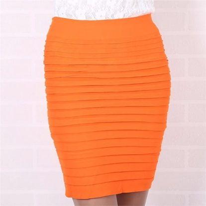 Trikosukně - oranžová