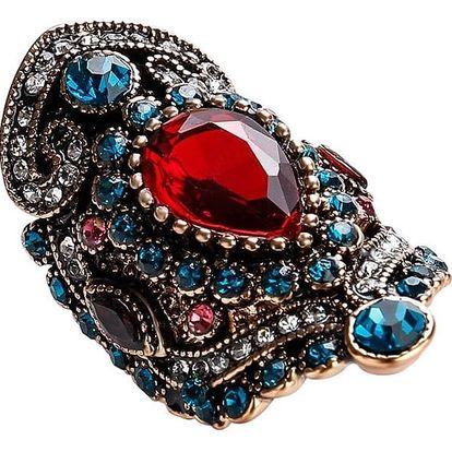 Dámský orientální prsten s kamínky