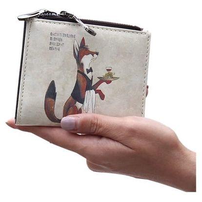 Malá peněženka s originálním kresleným potiskem - 7 motivů