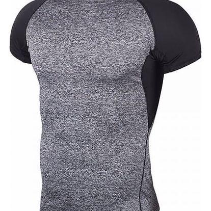 Pánské fitness triko s krátkým rukávem