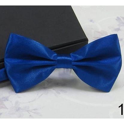 Stylový pánský motýlek v pestrých barvách - varianta 12 (námořnická modrá)