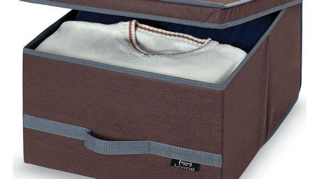 Hnědý úložný box Domopak Living, velký