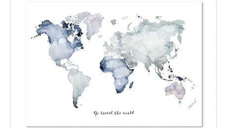 Plakát Leo La Douce Go Travel The World, 50x70cm - doprava zdarma!