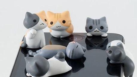 Protiprachová krytka pro mobilní telefon ve tvaru kočíčky