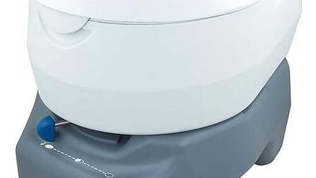 Chemická toaleta Campingaz 20L PORTABLE TOILET (odpadní nádrž 20L) šedá/bílá + Speciální toaletní papír Campingaz pro chemické toalety EURO SOFT (4 role) v hodnotě 107 Kč + Doprava zdarma