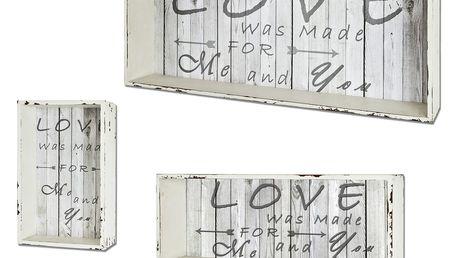 Regálové boxy - set 3 ks ALEXIS