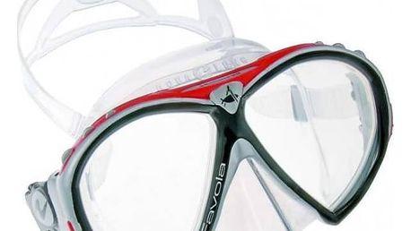 Potápěčská maska Technisub Favola silikon transparent stříbrná/červená