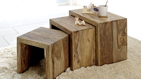 Přístavné stolky - set 3 ks YOGA 6553