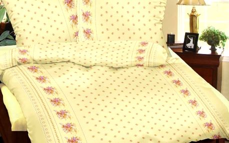 Bellatex povlečení bavlna Kvítí žluté, 140 x 220 cm, 70 x 90 cm