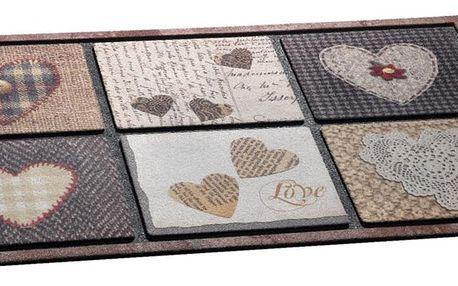 Vopi venkovní rohožka Cosy love, 46x76 cm