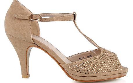 Sandálky na podpatku 1539KH 39