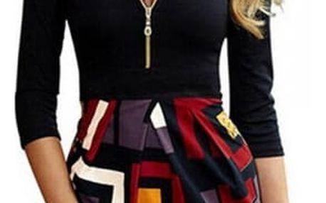 Letní vintage šaty se svůdným sáčkem - model 1) / velikost 5